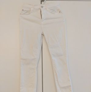 7 for all mankind white skinny jeans 25